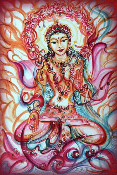Hindu Goddess Wall Art - Painting - Tara - Goddess Of Bliss And Healing  by Harsh Malik