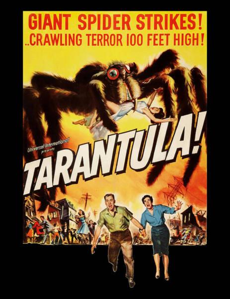 Spider Digital Art - Tarantula Movie Poster by Filip Hellman