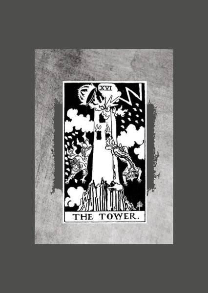Tarot Deck Digital Art - Tarot The Tower by Rider Waite