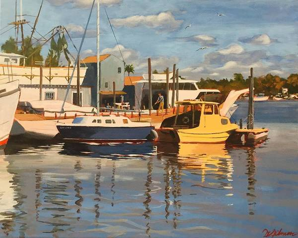 Painting - Tarpon Springs Harbour by David Gilmore