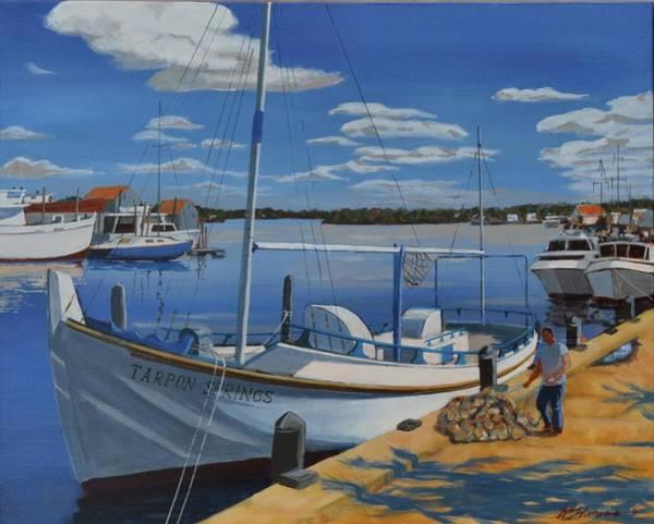 Painting - Tarpon Springs Sponger by David Gilmore