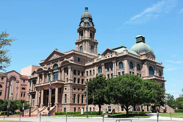 Photograph - Tarrant County Courthouse by Debi Dalio