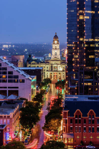 Wall Art - Photograph - Tarrant County Courthouse Looking Down by Jeremy Woodhouse