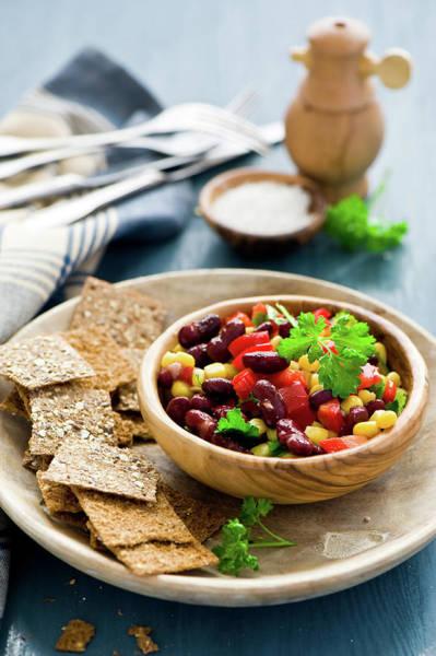 Napkin Photograph - Tartines With Haricot Salad by Verdina Anna