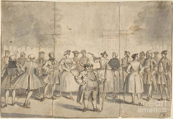 Drawing - Taste A La Mode In The Year 1753 by Flavia Westerwelle