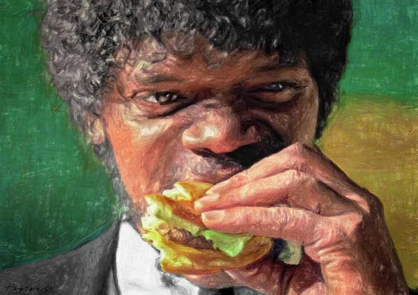 Wall Art - Painting - Tasty Burger by Zapista Zapista