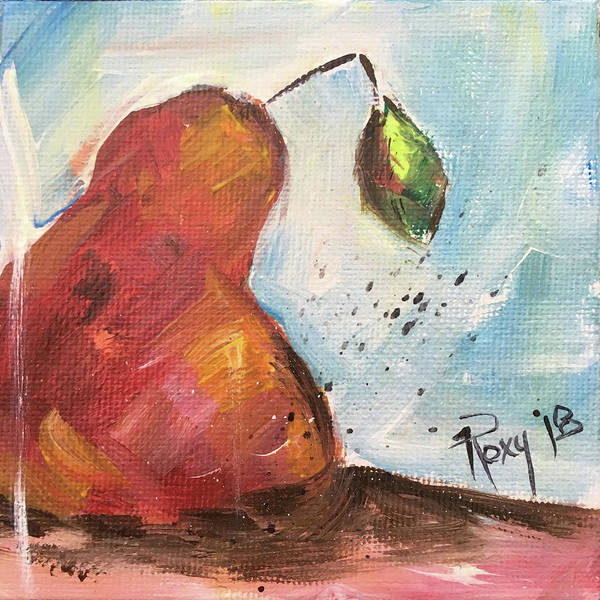 Still Life Painting - Tasty Pear by Roxy Rich