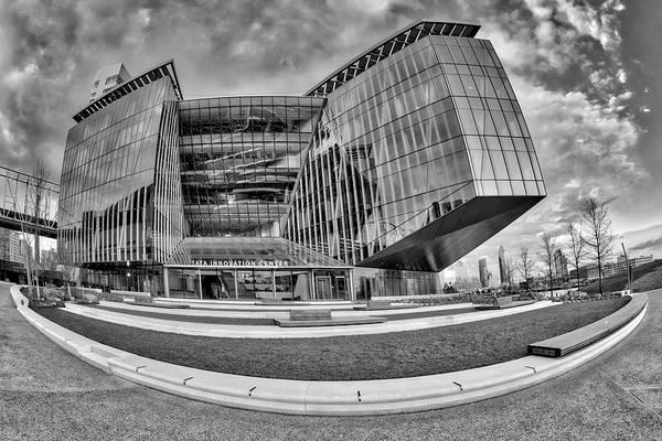 Photograph - Tata Innovation Center Nyc Bw by Susan Candelario