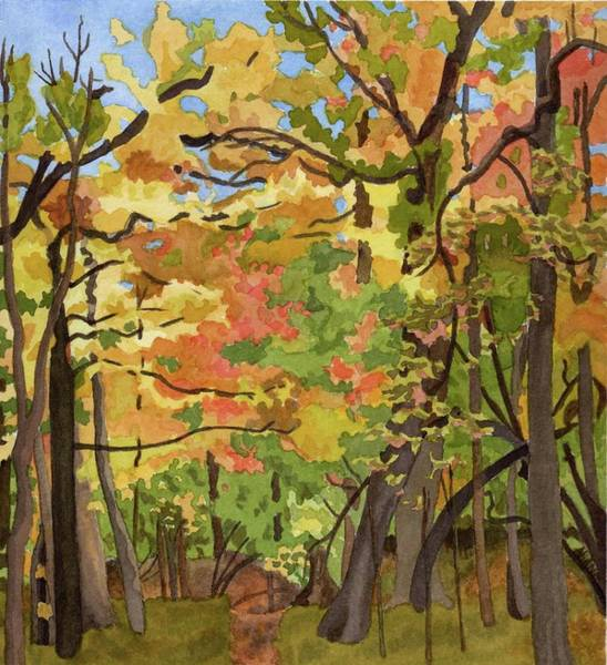 Tree Painting - Tatcher Woods by Alice Ann Barnes
