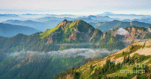 Wall Art - Photograph - Tatoosh Range Morning Atmospheric by Mike Reid