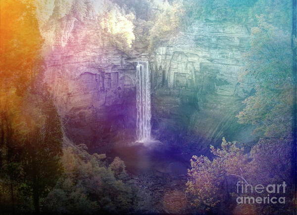 Wall Art - Photograph - Taughannock Falls Dreamy Day Effect by Rose Santuci-Sofranko