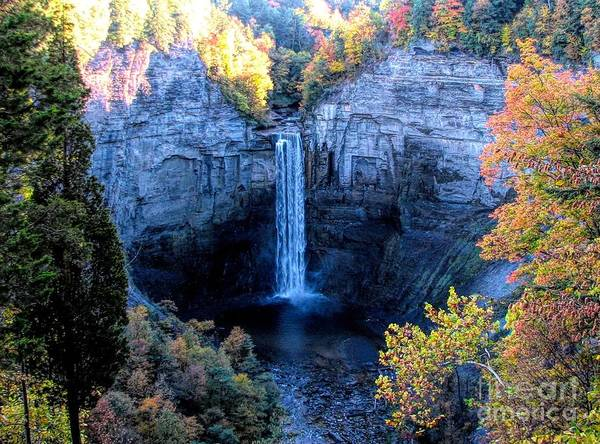 Photograph - Taughannock Falls In Autumn by Rose Santuci-Sofranko