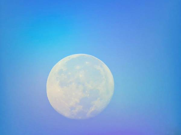 Photograph - Taurus Almost Full Moon Blend by Judy Kennedy