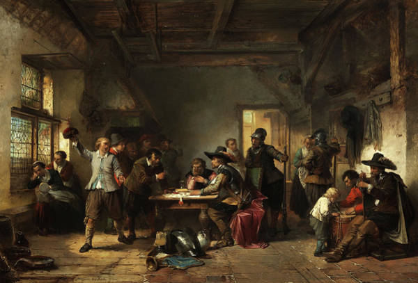 Tavern Painting - Tavern With Soldiers by Herman Frederik Carel ten Kate