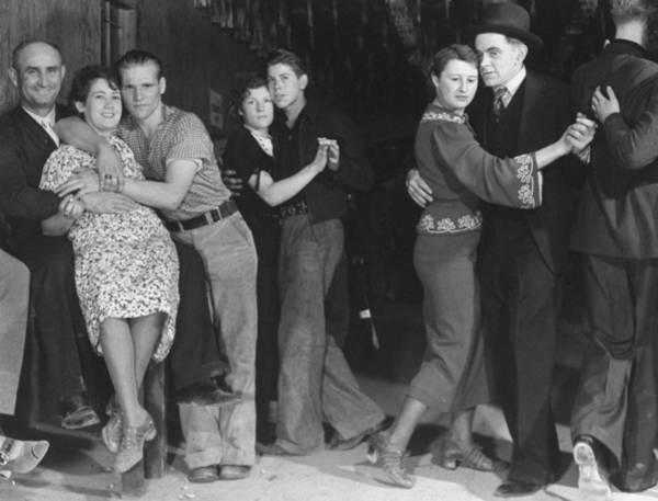 Publication Photograph - Taxi Dancers In A Saloon Fr. Life Magazi by Margaret Bourke-white