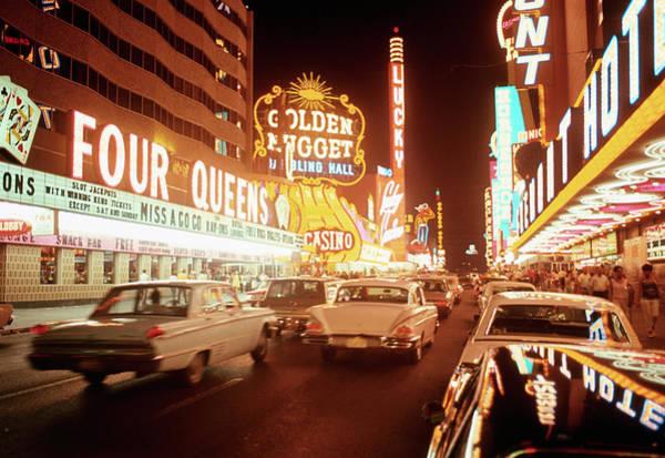 Photograph - Taxi Filled Street During Las Vegas by Bettmann