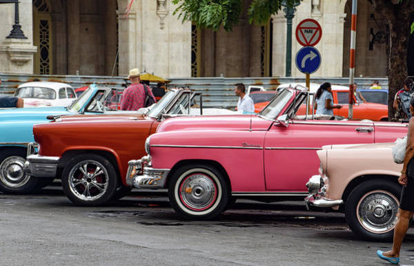 Photograph - Taxis In Havana by Mark Duehmig
