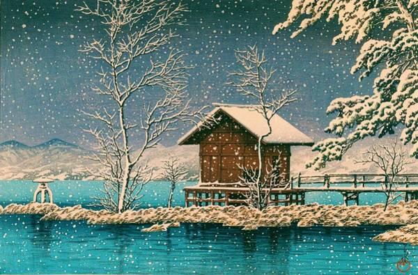 Wall Art - Painting - Tazawako Kansagu - Top Quality Image Edition by Kawase Hasui