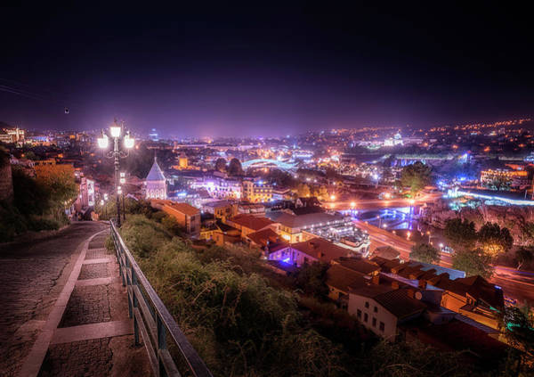 Wall Art - Photograph - Tbilisi At Night 1 by Adrian Malanca