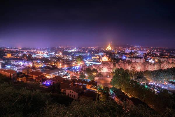 Wall Art - Photograph - Tbilisi At Night by Adrian Malanca