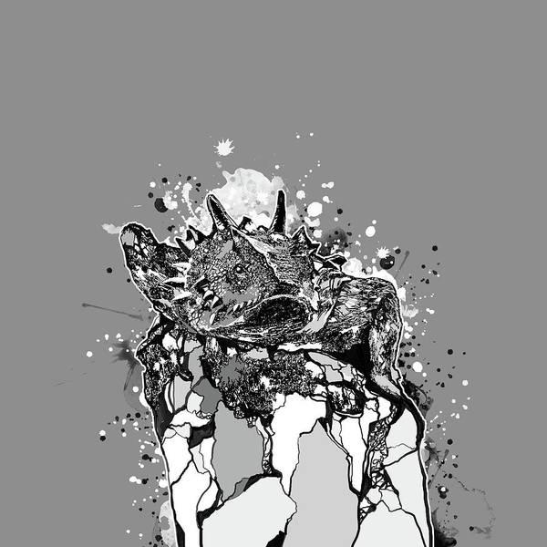 Lizard Digital Art - Tcu Horned Frogs Fort Worth 2 by Bekim M
