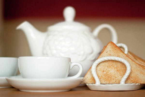Teapot Photograph - Tea & Toast by Sharon Vos-arnold