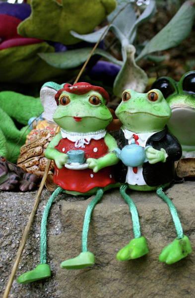 Wall Art - Photograph - Tea For Two At Santa Barbara's Frog Wall by Michael Cervin