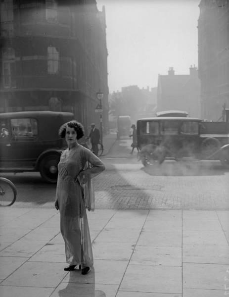 Dust Photograph - Tea Gown by Fox Photos