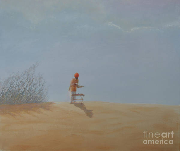 Wall Art - Painting - Tea In The Desert by Lincoln Seligman