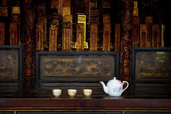 Teapot Photograph - Tea Left For An Offering At A Buddhist by Design Pics / Matt Brandon