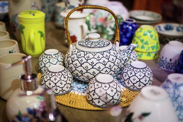 Photograph - Tea Set Hoi An by Gary Gillette