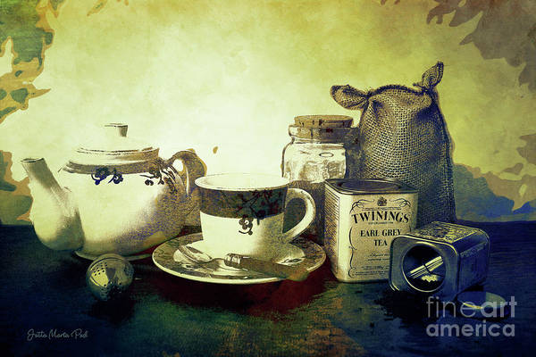 Digital Art - Tea Time by Jutta Maria Pusl