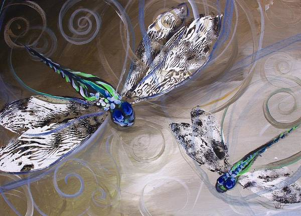Painting - Teach Me To Dragonfly by J Vincent Scarpace