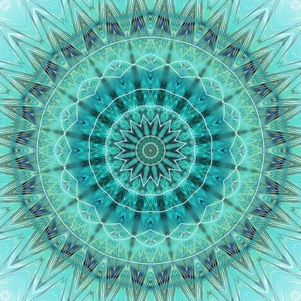Digital Art - Teal Bohemian Mandala by Sheila Wenzel