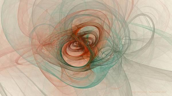 Digital Art - Teal Gyroscope by Doug Morgan