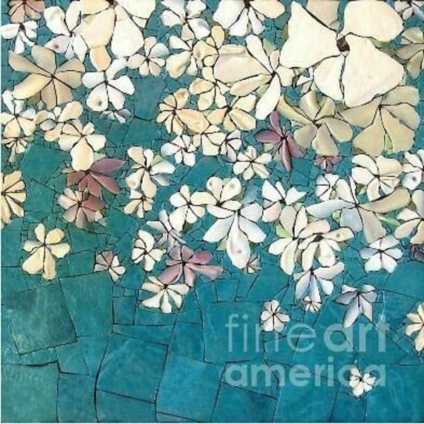 Painting - tealGold/fleurs by Kasey Jones