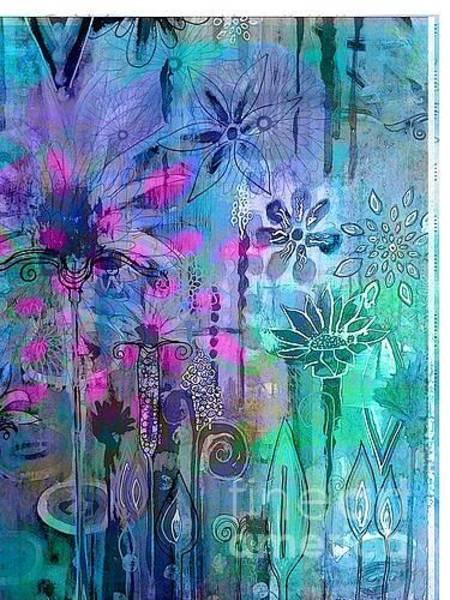 Painting - Teal_purple_501_kjp by Kasey Jones
