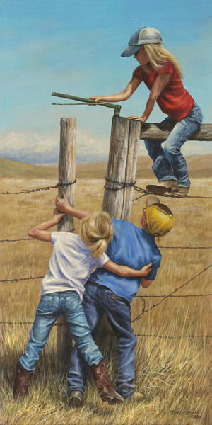 Painting - Teamwork by Kim Lockman
