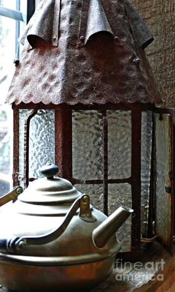 Wall Art - Photograph - Teapot And Lantern by Sarah Loft