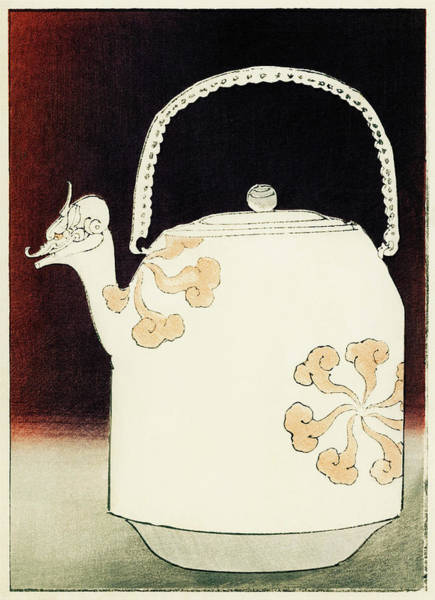 Wall Art - Painting - Teapot - Japanese Traditional Pattern Design by Watanabe Seitei