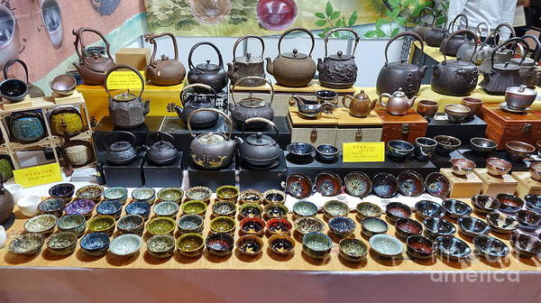 Wall Art - Photograph - Teapots And Teacups For Sale by Yali Shi