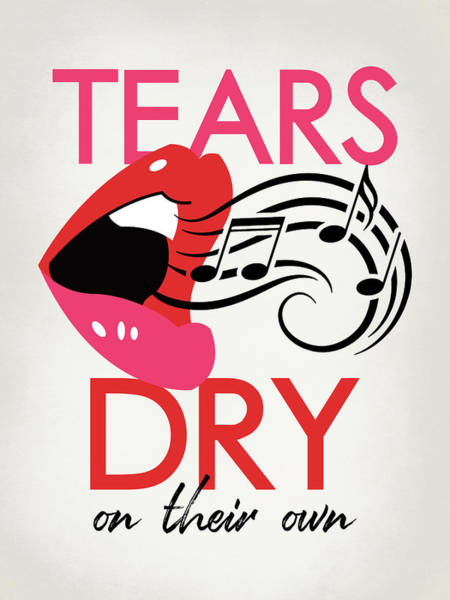 Wall Art - Digital Art - Tears Dry On Their Own - Pop Art Lips by Flo Karp