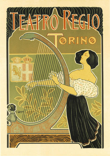 Painting - Teatro Regio Vintage French Advertising by Vintage French Advertising