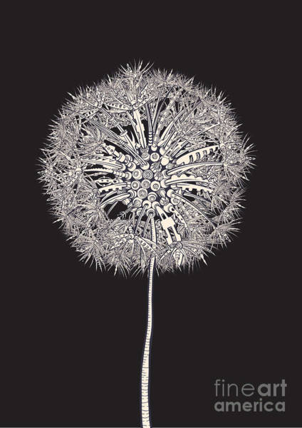 Seed Head Wall Art - Digital Art - Tech Dandelion by Ryger