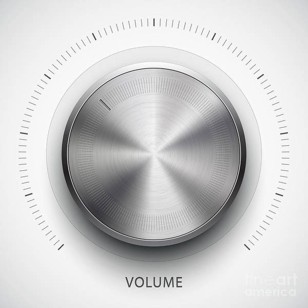 Wall Art - Digital Art - Technology Music Button Volume by Molaruso
