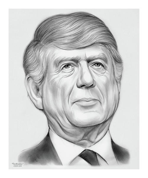 Wall Art - Drawing - Ted Koppel by Greg Joens