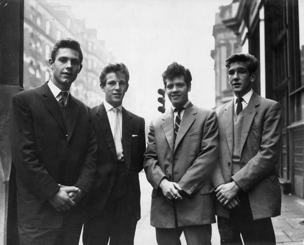 1958 Photograph - Teddy Boys On Remand by Ron Case