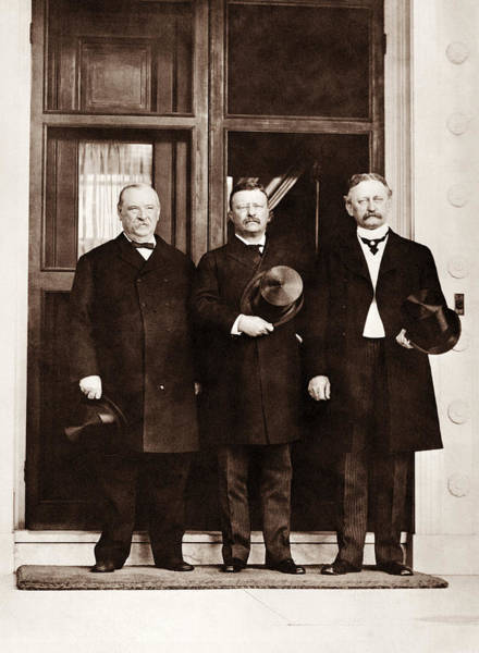Wall Art - Photograph - Teddy Roosevelt And Grover Cleveland - 1903 by War Is Hell Store