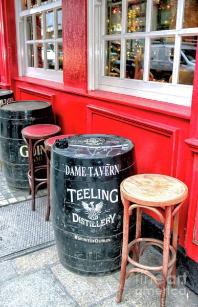 The Keg Photograph - Teeling Barrel At The Dame Tavern In Dublin by John Rizzuto