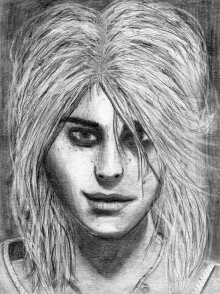 Drawing - Teenage Ciri Interpretation by Luke Mitchell